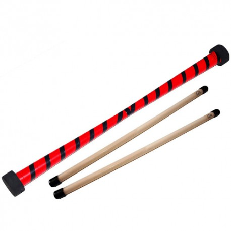 Bâton du diable rouge et noir