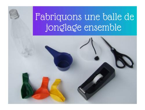 Outil pour fabriquer une balle de jonglage
