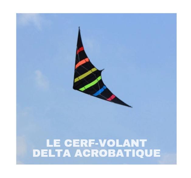 Cerf-volant delta acrobatique